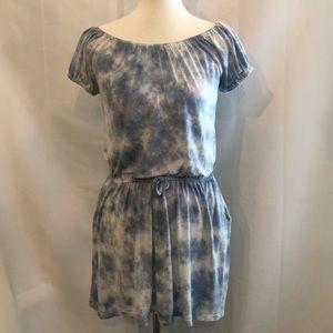 C & C California Blue Tie Dye Mini Dress